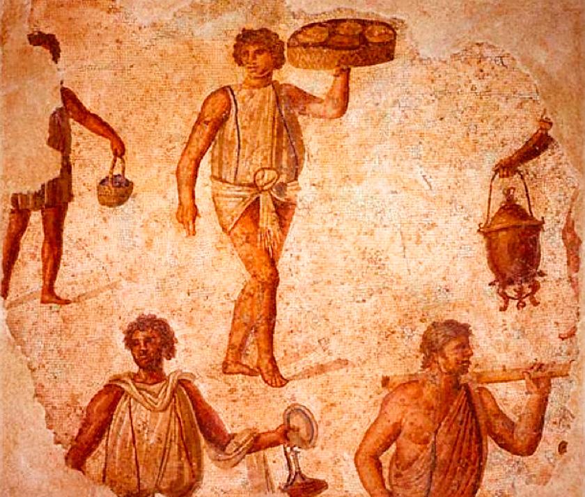 M.S. 30 yılında, Roma'da tam 329 tane ekmek fırını bulunmaktaydı.Bunların çoğu, meslek sırlarını Yunanlardan öğrenmiş Galliler tarafından idare edilirdi.